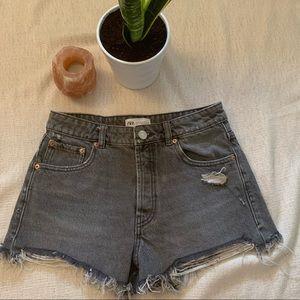 Zara Cutoff Denim Shorts